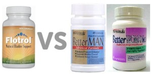 Flotrol vs Better Man and Better Woman Bladder Control 300x147 Leading Bladder Control Supplement in terms of quality and quantity of ingredients