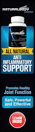 Natural Body Defense Vertical Banner Internal Inflammation remedy includes good fats, fruits and vegetables, exercise, mood change and immune system enhancement through Natural Body Defense