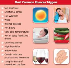 Rosacea Triggers Rosacea Prevention starts with avoidance of anomaly triggers and ends with application of Revitol Rosacea Cream